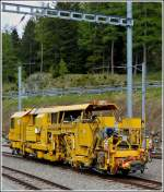 A MGB maintenance train photographed in Hospental on May 24th, 2012.