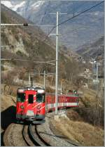 MGB BDe 4/4 with a local train from Zermatt to Brig by Stalden.