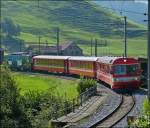 An AB local train from Appenzell is arriving in Urnäsch on September 14th, 2012.