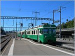 A BAM local train is arriving at Morges.