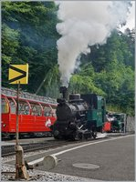 The Brienz Rothorn Bahn BRB Steamer H 2/3 N° 6 in Brienz.