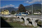 A Ferrovia Vigezzina SSIF Mini Treno Panoramico from Domodossola to Locrno near Malesco.