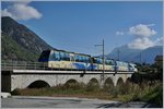 The Ferrovia Vigezzina SSIF Treno Panoramico D 40 P from Locarno to Domodossola near Malesco.