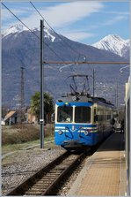 The SSIF ABe 8/8 23  Ossola  on the way from Locarno to Domodossola in Masera. 14.03.2017