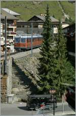 GGB mountain Train in Zermatt.