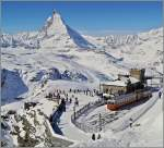 The Gornergrat Summit Station (3089 meter over sea level).