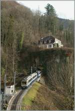 Rochers de Naye train by Toveyre.