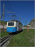 The Bhe 2/4 207 on the Rochers de Naye.