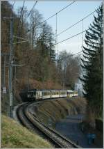 MOB GDe 4/4 wiht a Local Train Service by Chamby.