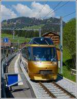 The Goldenpass panoramic train photographed in Saanenmöser on May 25th, 2012.