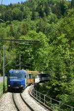 MOB Ge 4/4 III with Panoramic Express near Les Avants.