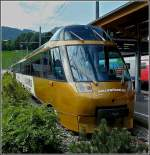 The GoldenPass panoramic train pictured at Zweisimmen on July 31st, 2008.