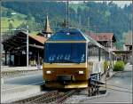 MOB GoldenPass panoramic train photographed at Zweisimmen on July 31st, 2008.