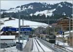 A big Station for a small train: Saanenmöser on the MOB GoldenPass Line Montreux - Zweisimmen -(Luzern).