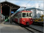 The CEV BDeh 2/4 73 comming from Blonay is arriving at Vevey.