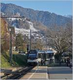 The CEV MVR is leaving Chernex on the way to Les Avants.