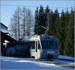 CEV Beh 2/4 N° 72 on the summit Station Les Pleiades. 