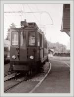 An old NStCM ABDe 4/4 in St Cergue in the late summer 1985.