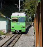 A A-L local Train to Leysin in Rennaz.