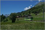 The ASD local train 441 coming from Aigle near Les Diablerets.