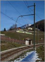 A ASD local train over Aigle.