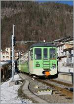 A ASD local train from Les Diablerets to Aigle by his stop in Le Sépey. 