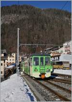 A ASD local train service on the way to Aigle in Le Sépey.