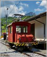 The little shunter engine Te 2/2 N° 12 photographed in Montbovon on May 28th, 2012.