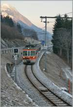 TPF/GFM local train in the Vally by Montbovon.