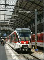 The  Zentalbahn  Spatz 130 003-7 to Giswil in Luzern.