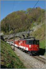 Zentralbahn  zb  De 4/4 110 021-3 wiht hit IR 2219 from Interlaken to Luzern by Niederrreid.