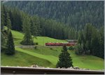 RhB Ge 4/4 I 602 and 603 with a fast train to St Moritz by Bergün.
