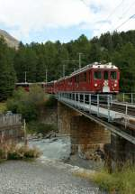 RhB Bernina express by the station Morderatsch.