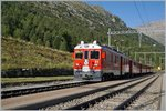 A locla train to Tirano in Bernina Sout.