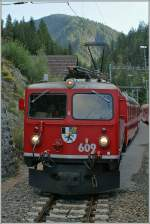 Our train crossing the Ge 4/4 I 609 with the Bernina Express Davos