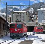 The RhB Ge 4/4 II 621 in Disentis.