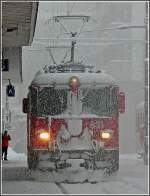 Ge 4/4 II 631 taken during heavy snowfall at Arosa on December 25th, 2009.