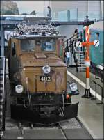 The RhB Ge 6/6 I N° 402 photographed in the museum of transport in Luzern on September 12th, 2012.