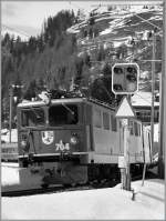 RhB Ge 6/6 II on the way to St Moritz by Bergün.