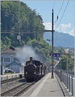 The Ballenberg Dampofbahn SBB G 3/4 208 in Brienz.