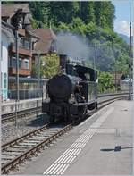 The Ballenberg Dampfbahn SBB G 3/4 208 in Brienz.