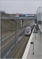 The TGV LYRIA 9203 from Paris to Zürich is leaving from the Belfort-Montbéliard TGV Station.