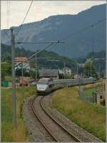 TGV Lyria 9284 Bern - Paris by Noiraigue. 
