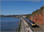 The Great Western Railway HST 125 Class on the way to Paignton near Dawlish.