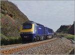 A Great Western Railway HST 125 Class 43 near Dawlish Warren.
