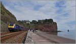 A Great Western Railway HST 125 Class 43 between Teignmounth and Dawlish.