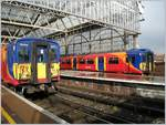 Class 455 South West Trains in the London Waterloo Station.