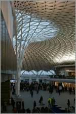 The beautiful Entrance to the London Kings Cross Station.